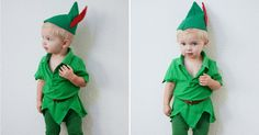 We have a super simple do-it-yourself Peter Pan Halloween costume that will make your kids want to fly right off to Neverland.