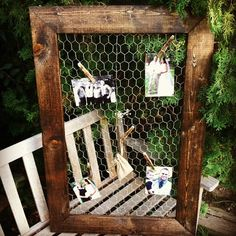 """Chicken Wire Frame 24""""x36"""", Rustic Frame, Picture Frame, Rustic Wedding, Reclaimed Wood, Home Decor on Etsy, $69.00"""