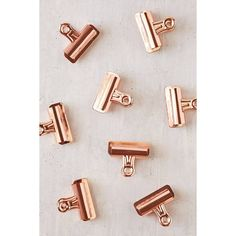 Copper Bulldog Clips Set (16 CAD) ❤ liked on Polyvore featuring home, home decor, office accessories and copper