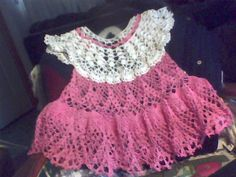 ok this is  my first attempt to post a picture, my grandson is  helping, so here goes. I've always wanted to thread crochet a baby dress, finally after all the babies are grown i acquired a pattern. Hope you like.size 0-3 mos. bought the pattern from Annies Attic.