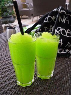 Lime Granita with vodka