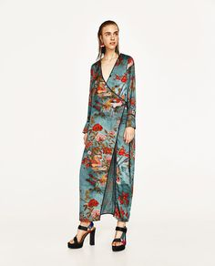 ZARA - WOMAN - PRINTED KIMONO DRESS