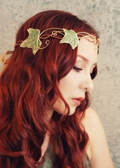 Evelyn's Crown Ivy Headdress by Gardens of Whimsy