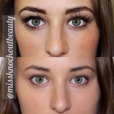 We LOVE a fantastic before & After on Mikaela! She has our Knockout Ultra Thick Set of Lashes & our Bottom Lash Extensions, Brow Shaping, and #BillionDollarBrow Powder. Getting ready in the morning just got better!