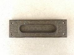 Cast Iron Mail Slot / Cast Iron Letters Slot by MadisonMarketHouse southern style farmhouse decor Victorian home fixer upper Joanna Gaines antique