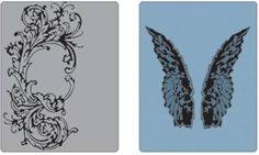 Tim Holtz Embossing Folders - Flourish and Wings Set