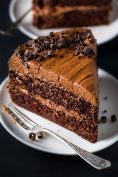 Supremely moist, rich, and decadent Chocolate Ricotta Layer Cake. This cake is always a crowd-pleaser and so good with a cup of coffee! Italian Chocolate Cake Recipe, Best Ever Chocolate Cake, Decadent Chocolate, Chocolate Recipes, Chocolate Heaven, Chocolate Lovers, Chocolate Desserts, Gluten Free Desserts, Delicious Desserts