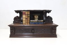 English Carved Oak Counter Shelf with by TheParsonsPleasures, $650.00
