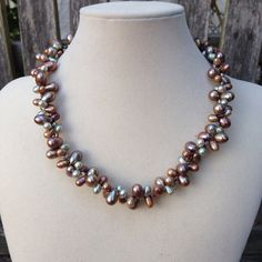 Natural Toned Pearl Cluster Necklace by EastVillageJewelry on Etsy, $95.00 Sundance Style at reasonable prices!  www.eastvillagejewelry.etsy.com