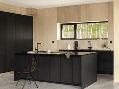 Minimalist Furniture, Minimalist Interior, Minimalist Living, Minimalist Bedroom, Minimalist Decor, Modern Minimalist, Black Kitchens, Home Kitchens, Minimalist Kitchen Layouts
