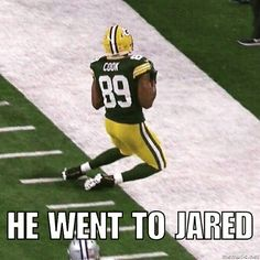 Rodgers went to Jared Sunday 1-15-17