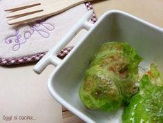 Involtini di verza con salsiccia e scamorza-Oggi si cucina...