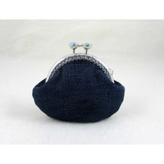 Blue jean coin purse, clasp pouch, recycled denim purse, change purse,... (78 PLN) ❤ liked on Polyvore featuring bags, wallets, blue bag, change purse wallet, pouch wallet, clasp bag and clasp coin purse