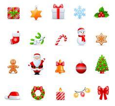 アイコンタイプのかわいいクリスマス素材。無料ベクタークリップアート - All Free Clipart +