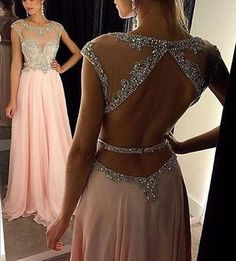 Prom Dress Beautiful, 2019 Cap Sleeves Prom Dresses Scoop A Line Chiffon With Beading Floor Length, Discover your dream prom dress. Our collection features affordable prom dresses, chiffon prom gowns, sexy formal gowns and more. Find your 2020 prom dress Prom Dresses Long Pink, Prom Dresses With Sleeves, Backless Prom Dresses, A Line Prom Dresses, Prom Party Dresses, Pretty Dresses, Homecoming Dresses, Quinceanera Dresses, Evening Dresses
