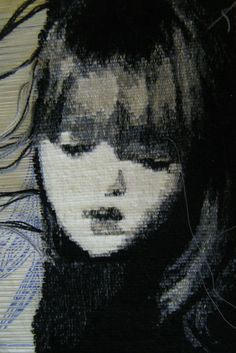 Emma Jo Webster portrait of a girl being woven