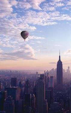 Balloon over the big apple, NYC