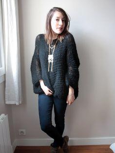 Pull ajouré - facile à tricoter