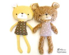 Teddy Bear Sewing Pattern to buy - Dolls And Daydreams