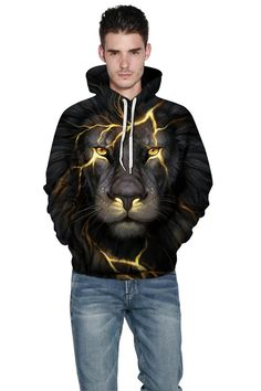 Fila hoodie with black and gray lion 3D digital print with hooded swea – menlivestyle Black Lion, Black And Grey, Sweatshirts Online, Hooded Sweatshirts, China Wholesale Clothing, Lion Print, Cool Sweaters, Grey Sweatshirt, Men's Collection