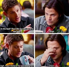 Oh Dean.always has the right sassy answer. Cw Tv Series, Series Movies, Movies And Tv Shows, Supernatural Jensen, Supernatural Seasons, Winchester Brothers, Dean Winchester, The Mentalist, Super Natural