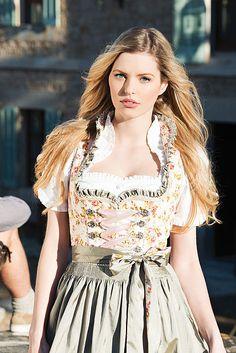 Krüger Dirndl 42506  |  S❤ Oktoberfest Outfit, Beer Maid, Festival Girls, Dirndl Dress, Folk Fashion, Medieval Dress, Historical Costume, Traditional Dresses, Nice Dresses