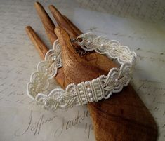 Beautiful micromacrame bracelet by Sherri