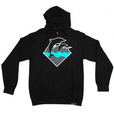 Pink+Dolphin — Holiday Waves Hoody in Black
