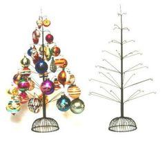 40 ornament primitive wire tree - Wire Christmas Tree