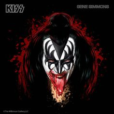 Gene Simmons, co-founder of Kiss has been the bass player from 1974 - Present. Real name: Chaim Witz. Born in Israel on August Paul Stanley, Eric Singer, Banda Kiss, Gene Simmons Kiss, Tutorial Photoshop, Kiss Rock Bands, Kiss Tattoos, Heavy Metal Art, Rock Poster