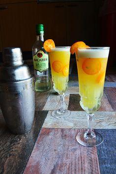 Cocktail 今日は振ってー! 地平線の向こうの貴方へ バカルディモヒート×金柑×パインジュース|レシピブログ
