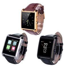 LF06 DM08 Bluetooth Smart Uhr Männer Leder IPS Kamera Smartwatch armbanduhr Für iOS Android Telefon PK M26 U8 DZ09 GV08 uhr //Price: $US $42.29 & FREE Shipping //     #smartwatches