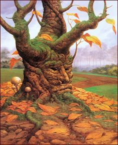 Judson Juss is one of my all time favorite artists.  This piece is called Autumn.