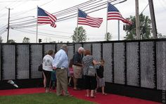 East Niagara Post: Hundreds visit Vietnam Traveling Memorial Wall for opening ceremonies