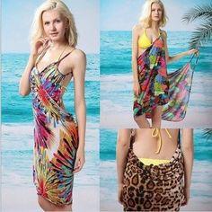16 colores disponibles de la fábrica venta profundo v cuello de gasa sexy bikini sexy vestido abrigo patrón