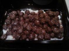 3 ingredient - Easy Peesy crockpot meatballs using frozen meatballs