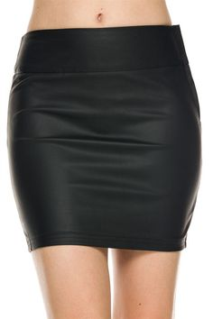 Casual Bodycon Slim Sexy Casual Solid Tight Short Faux Leather Mini Skirt - Size Type: Juniors / Contemporary - Special Style: Faux leather mini skirt. - Style: Mini skirt - Pattern: Solid - Occasion: