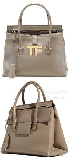 Emmy DE * #TomFord TF Icon Medium Satchel Bag, Taupe