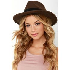 French Quarter Brown Fedora Hat (€19) ❤ liked on Polyvore featuring accessories, hats, brown, brown fedora hat, brown fedora, brimmed hat, bow hat and fedora hat