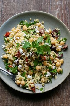 This Mediterranean millet salad is a healthy vegetarian side dish or main course filled with delicious Greek flavours! Gluten free with a vegan option. All clean eating ingredients are used for this healthy recipe. Vegetarian Side Dishes, Vegetarian Recipes, Cooking Recipes, Healthy Recipes, Healthy Salads, Healthy Eating, Healthy Food, Millet Recipes, Amaranth Recipes