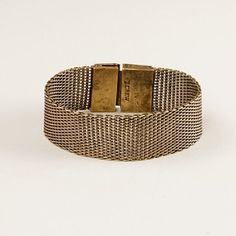 vintage looking jcrew woven mesh bracelet (antique gold or silver)