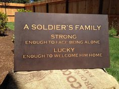 Military Home Decor  Soldier's Family Wall by WildflowersnWhiskey, $22.50