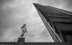 The naked runner helps the naked chef: World champion parkour athlete pictured leaping across London rooftops without any clothes on to raise money for Jamie Oliver foundation