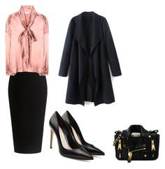 """""""office desk"""" by swinxrose ❤ liked on Polyvore featuring Theory, Balenciaga, Moschino and Alexander McQueen"""