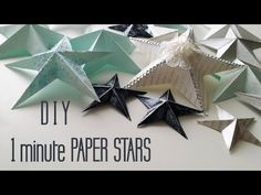 DIY papercrafting video fro Ayerndua /arts & Crafts: One Minute Paper Star Christmas Ornaments Paper Christmas Decorations, Paper Christmas Ornaments, Pinecone Ornaments, 3d Paper Star, Paper Stars, 3d Star, Diy Christmas Star, Christmas Crafts For Kids, Christmas Gifts