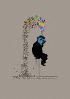 Palabras: lector feedback / Palabras: retroalimentacion del lector (Ilustración de Mehrdad Zaeri)