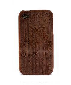 Firework Engraved Walnut iPhone 4/4s Wood Case