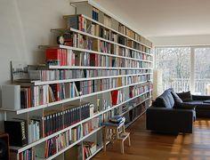 Bücherwand selber bauen  15 Bücherregal Designs für gemütliche Leseecke | Bücherregale ...