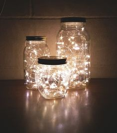 How to Make a DIY Glow Jar Learn how to make mason jar luminaries with o. - How to Make a DIY Glow Jar Learn how to make mason jar luminaries with our quick and easy # - Glow Jars, Cute Room Decor, Room Lights Decor, Light Decorations, Lighting Ideas Bedroom, Dyi Bedroom Ideas, White Lights Decor, Decor For Small Bedroom, Diy Room Ideas