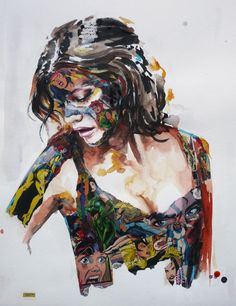 Sandra Chevrier is a Canadian artist born in As far as this artist can remember, art has always been present in her life. She reminds with special detail… Graphic Design Illustration, Illustration Art, Sandra Chevrier, Grunge Art, Artsy Photos, Gcse Art, High Art, Comics Girls, Canadian Artists